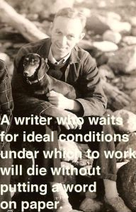 ideal conditions die without putting a word on paper