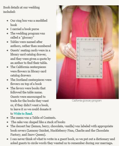 wedding book details