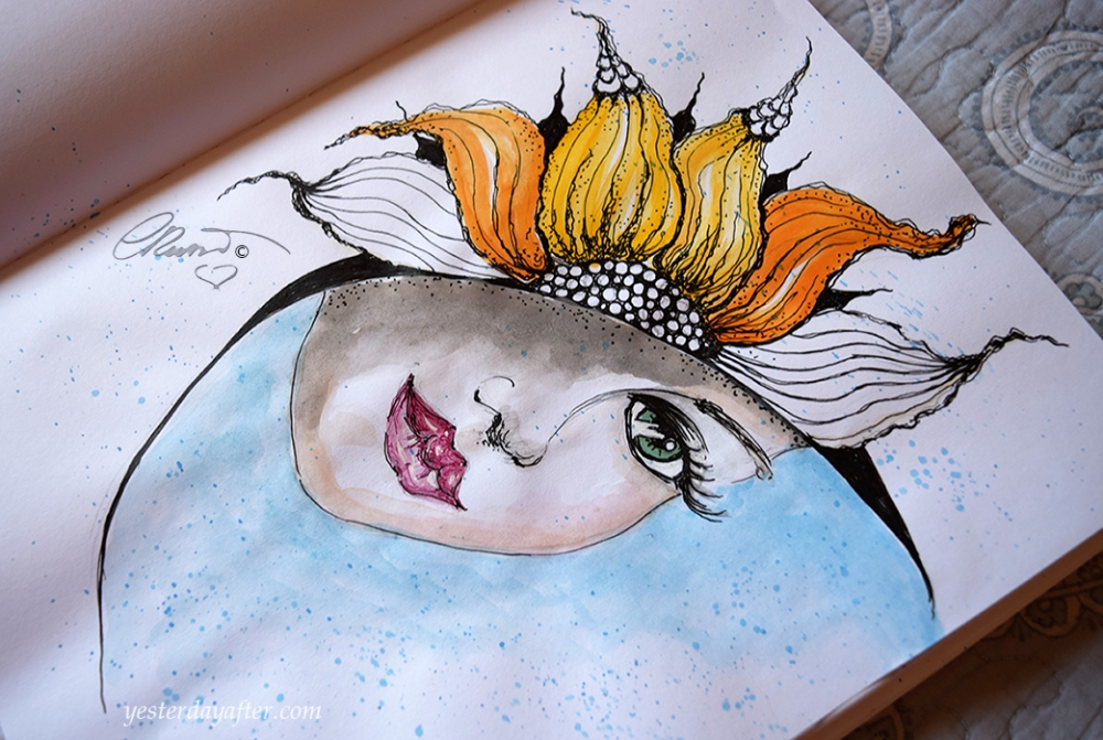 Day and Night - Original Watercolor ©Carolina Russo