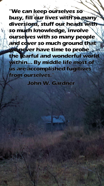 Ozark Cabin with John Gardner Quote